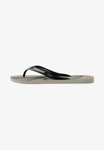 AERO GRAPHIC - Chanclas de dedo - grey/black
