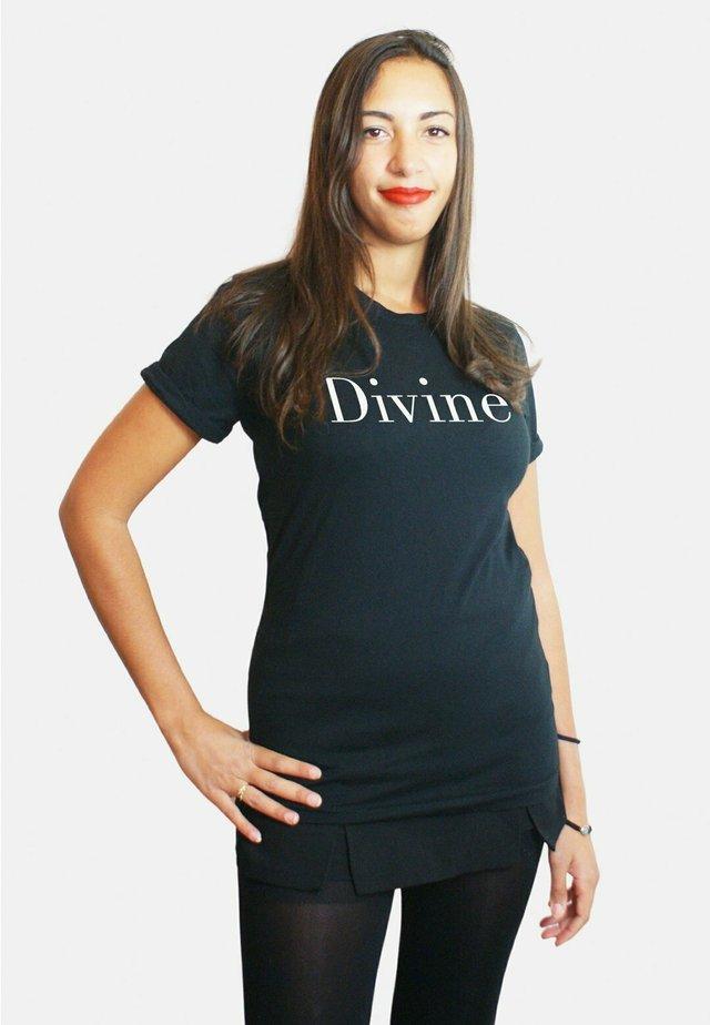 DIVINE LARGE WTSRU - T-shirt print - black
