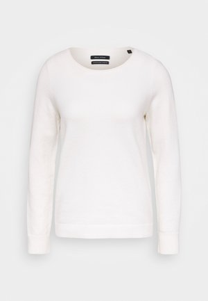 LONGSLEEVE BASIC WITH ROUNDNECK - Jumper - off white