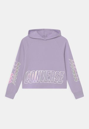 CROPPED GLOSSY RAGLAN HOODIE - Mikina - violet frost