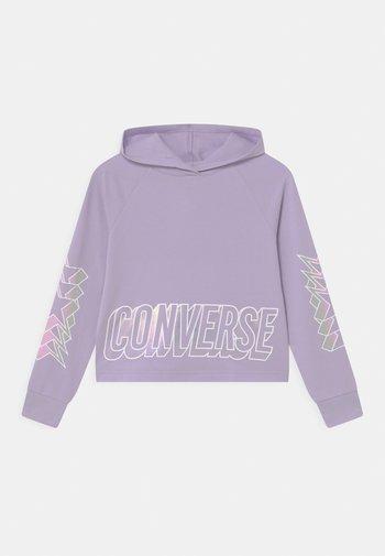 CROPPED GLOSSY RAGLAN HOODIE - Sweatshirt - violet frost