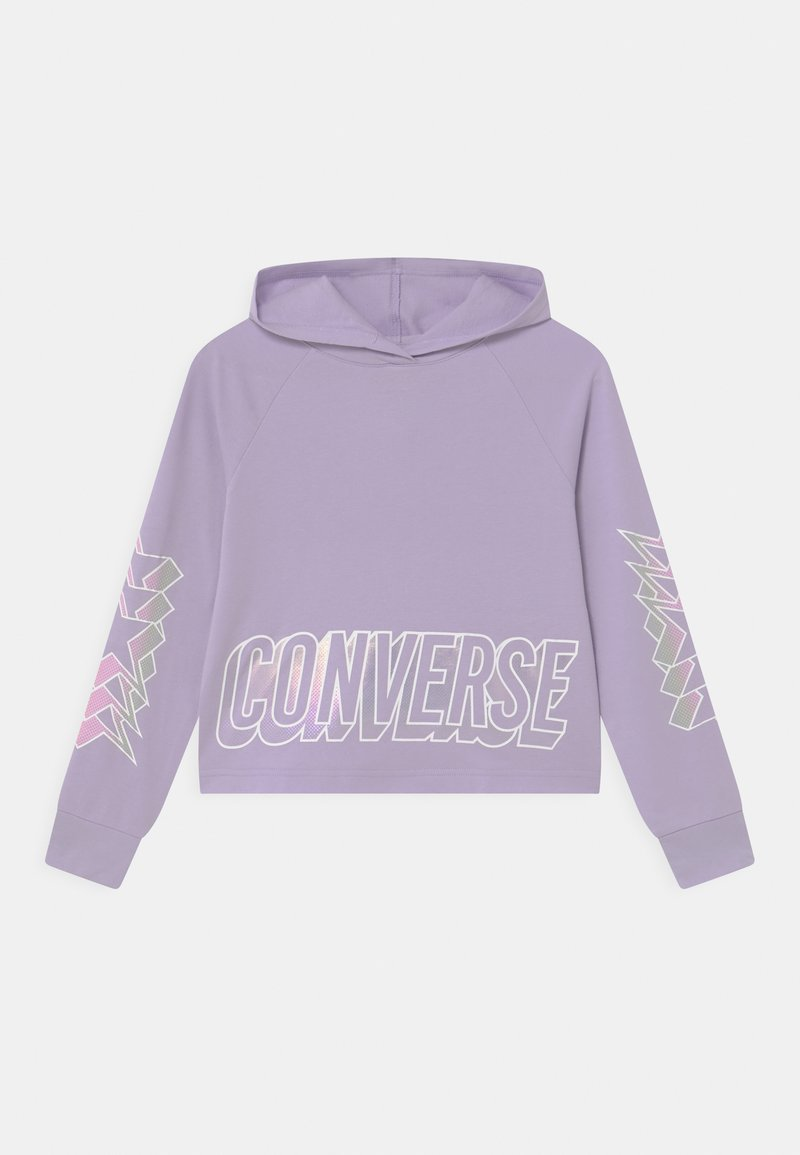 Converse - CROPPED GLOSSY RAGLAN HOODIE - Mikina - violet frost