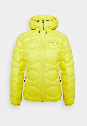 HELIUM HOOD JACKET - Down jacket - citrine