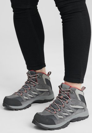MID CRESTWOOD™ MID WATERPROOF - Walking trainers - graphite, daredevil