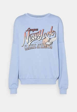 Printed Crew Neck Sweatshirt - Mikina - blue