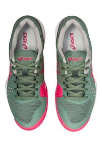 ASICS - GEL CHALLENGER 12 CLAY - Clay court tennis shoes - stone - 5