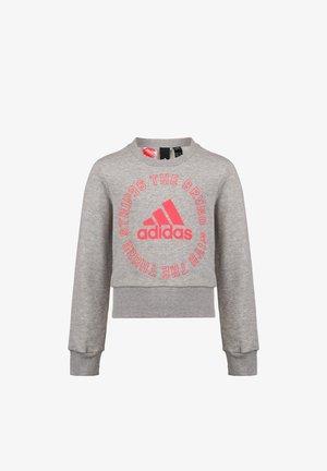 BOLD  - Sweater - mid grey heather / signal pink