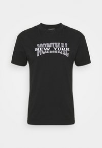 Nominal - NEW YORK TEE - Print T-shirt - black - 4