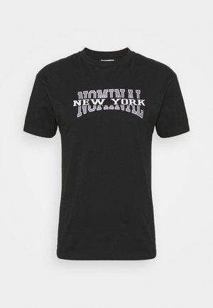 NEW YORK TEE - Triko spotiskem - black