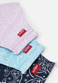 Levi's® - REUSABLE BANDANA FACE COVERING UNISEX 3 PACK - Stoffen mondkapje - blue/purple/light blue - 5