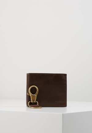 DERRICK SET - Peněženka - dark brown