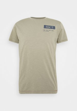 BIKER SLUB - Print T-shirt - sage