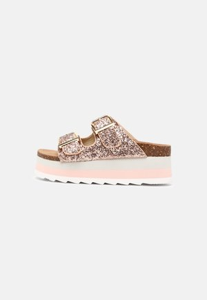 Heeled mules - pink/gold