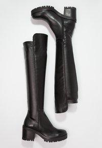 Felmini - COSMOS - Overknee laarzen - wonderfull black - 2