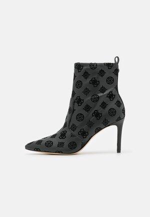 DAFINA - Kotníková obuv na vysokém podpatku - black
