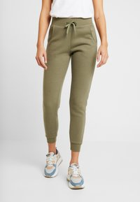 New Look - BASIC BASIC  - Tracksuit bottoms - dark khaki - 0
