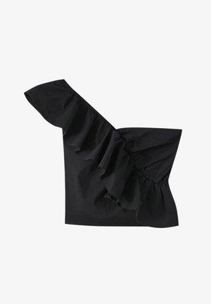 MIT ASYMMETRISCHEN ÄRMELN UND VOLANTS - Top - black