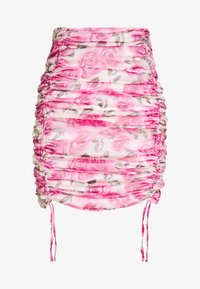 Missguided - SHEER MINI SKIRT - Spódnica ołówkowa  - pink - 3