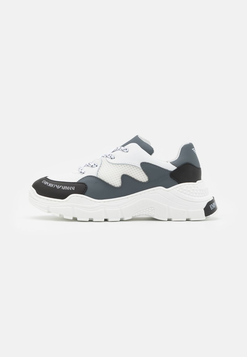 Emporio Armani - Trainers - white/dark blue
