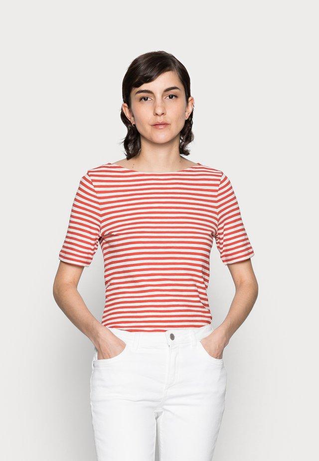 Print T-shirt - burnt orange