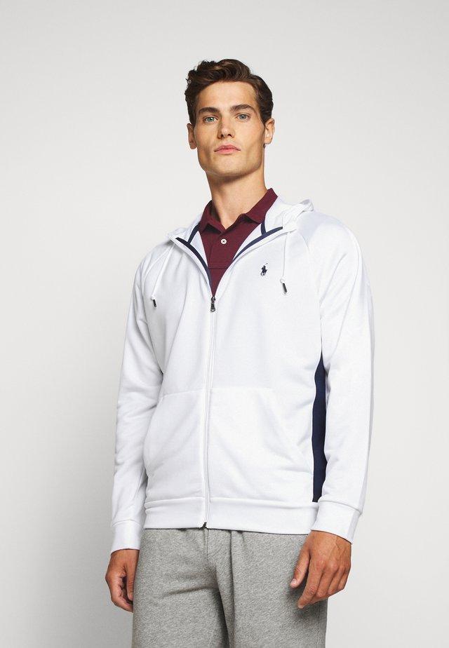 LONG SLEEVE - veste en sweat zippée - pure white