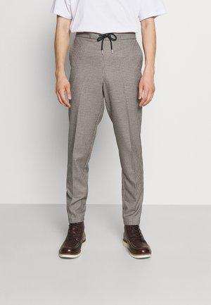 HOUNDTOOTH PANTS WITH STRING - Kalhoty - dark sand