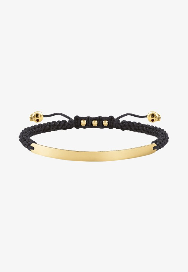 SCHWARZ TOTENKOPF - Bracelet - gold-coloured/black