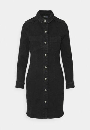 VMGRACE  - Denim dress - black denim