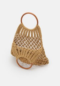 Pieces - PCLUNIA CROCHET BAG - Tote bag - almond buff - 2
