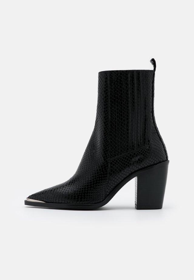 BASAMA - Cowboy/biker ankle boot - black