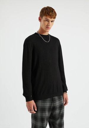 Svetr - mottled black