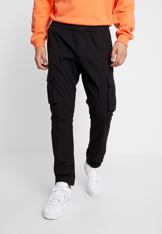 CUFFED PANT - Cargo trousers - black