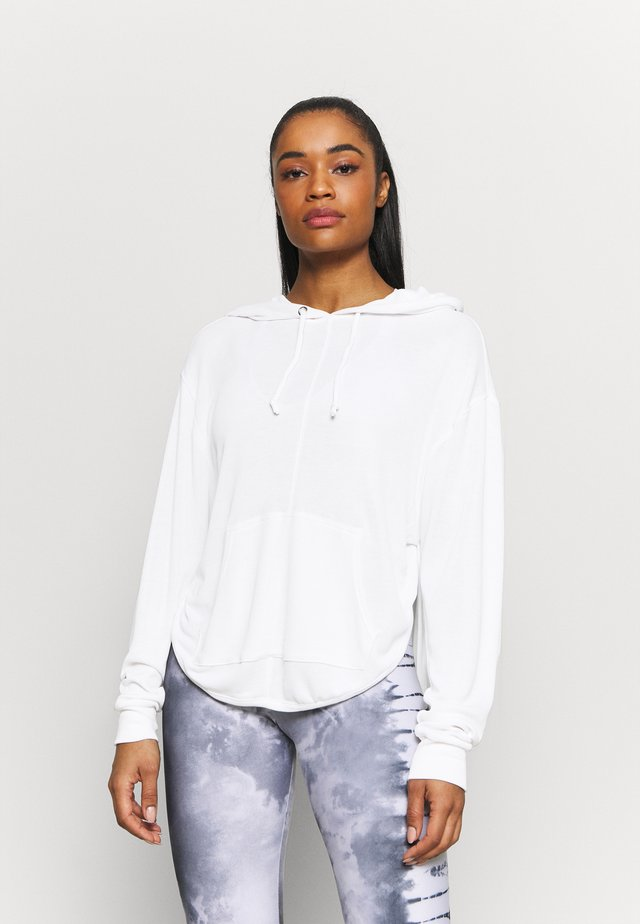 BACK INTO IT HOODIE - Felpa con cappuccio - powder white