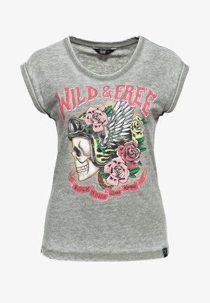 WILD FREE - Print T-shirt - olivgrün