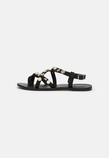 TYRA MULTI STRAP - Sandals - black/ gold