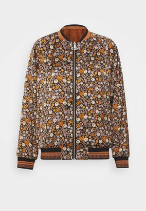 PRINTED REVERSIBLE BOMBER JACKET - Bomberjacks - blue
