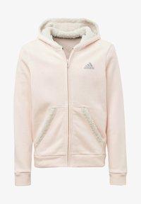 adidas Performance - MUST HAVES WINTER LOGO - Hoodie met rits - pink - 0
