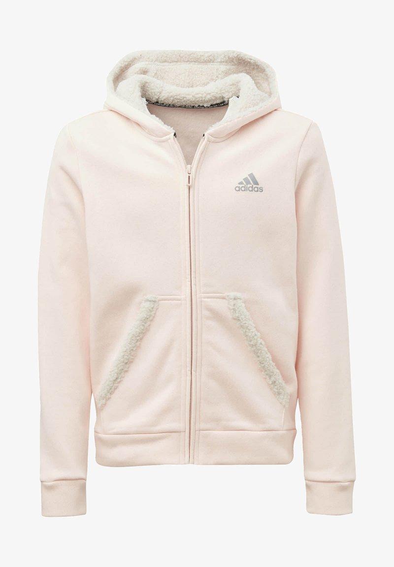 adidas Performance - MUST HAVES WINTER LOGO - Zip-up hoodie - pink
