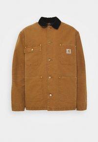 Carhartt WIP - CHORE COAT DEARBORN - Light jacket - hamilton brown/black aged - 4