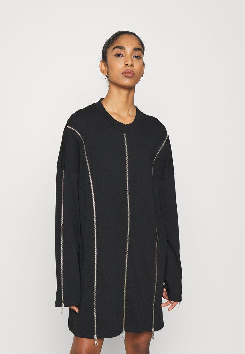 The Ragged Priest - PEEL DRESS - Jerseykjole - black
