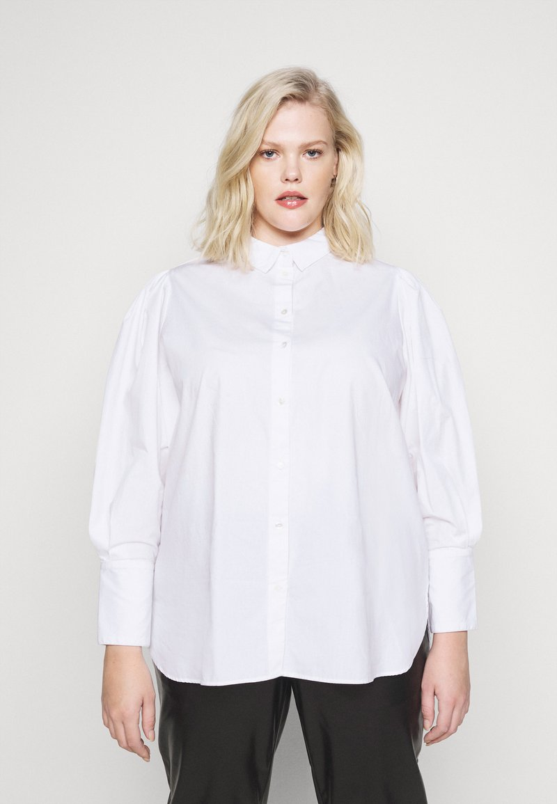 Selected Femme Curve - Button-down blouse - bright white