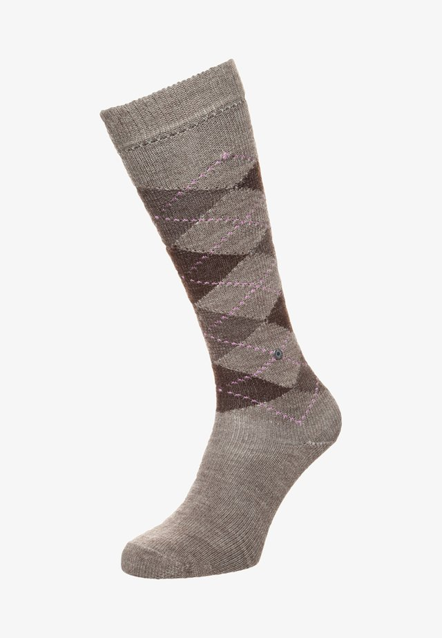 WHITBY - Knee high socks - nutmeg melange