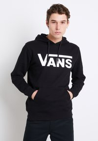Vans - CLASSIC - Bluza z kapturem - black/white - 0
