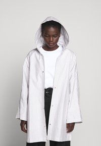 Proenza Schouler White Label - BELTED WITH STRIPED LINING - Parka - dark grey - 6