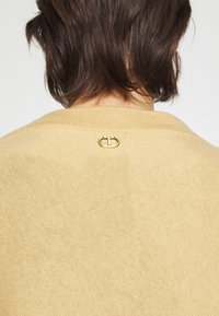 TWINSET - EMBROIDERY PONCHO - Cape - golden rock - 5