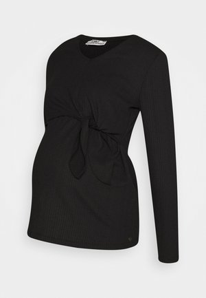 NURSING CRINCLE - Long sleeved top - black