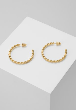 CHUNKY TWIST HOOP EARRIGS - Earrings - pale gold-coloured