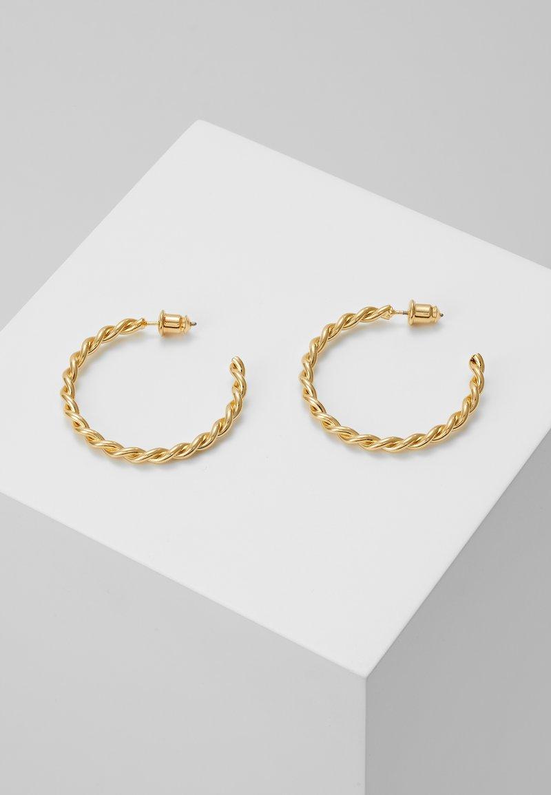 Orelia - CHUNKY TWIST HOOP EARRIGS - Earrings - pale gold-coloured