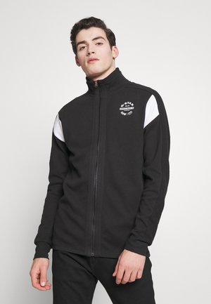 KORPAZ ZIP THROUGH ROUND LONG SLEEVE - Zip-up hoodie - dark black