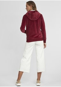 Oxmo - Zip-up hoodie - wine red - 2